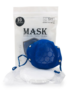 Reusable Silicone Mask - Come with 10 Replacement Filters