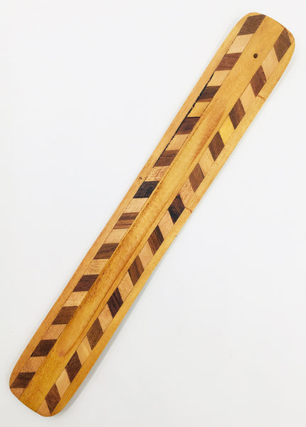 Two-Tone Diamond Wooden Incense Holder (Clearance)