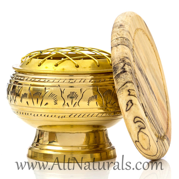 Solid Brass Screen Incense Burner