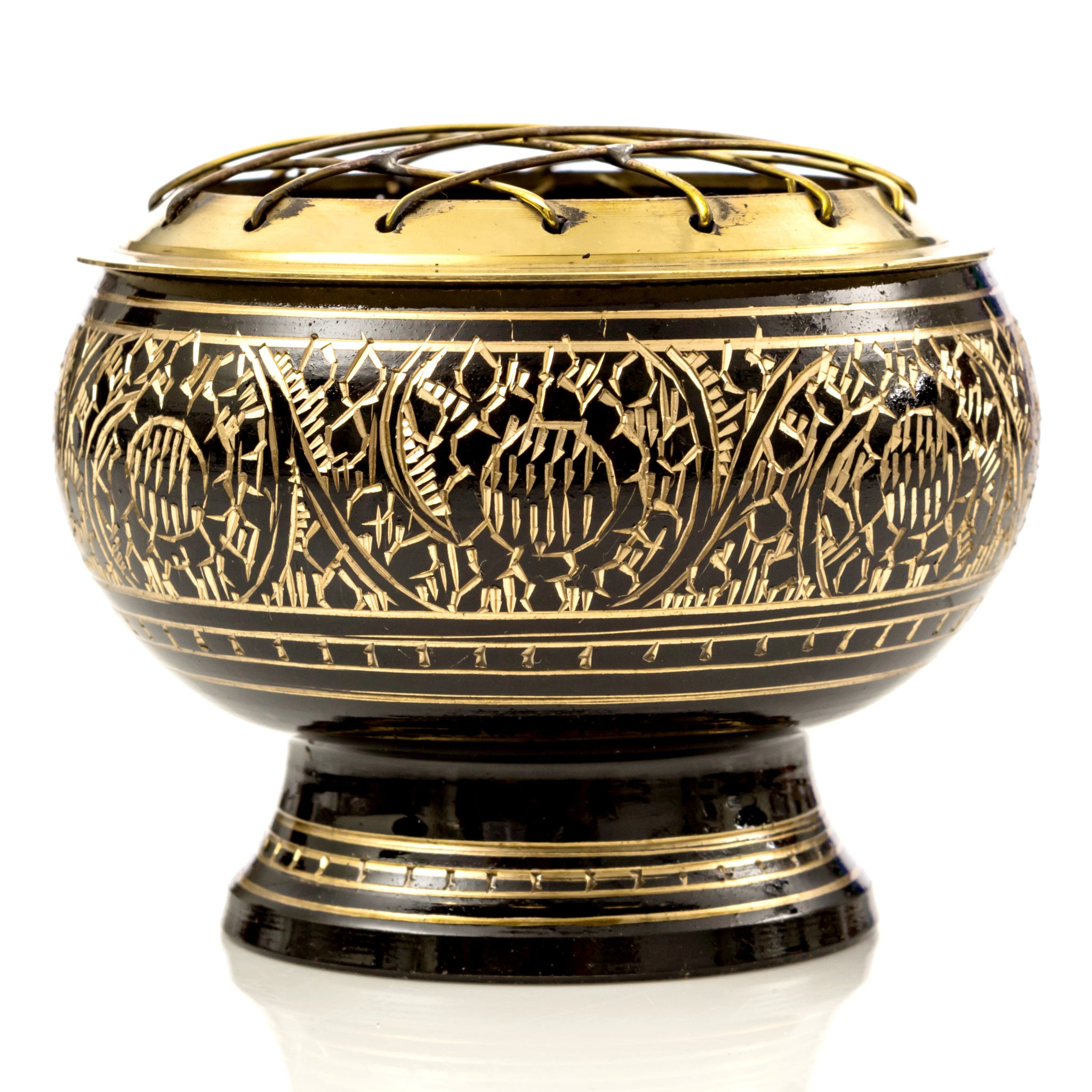 Brass Screen Incense Bowls (Clearance)