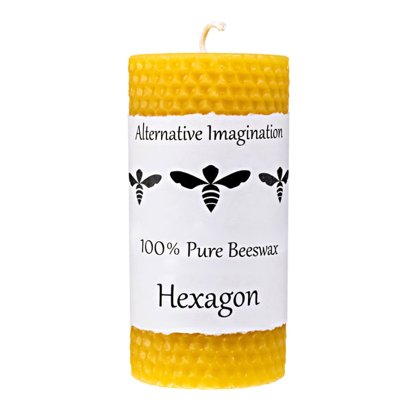 Hexagon Beeswax Candle