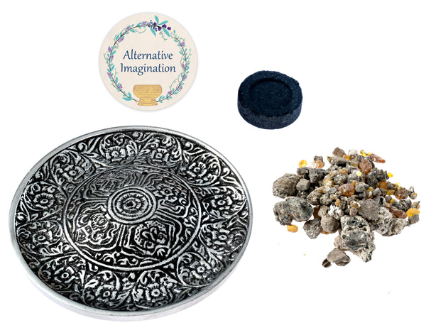 Palo Santo Resin Kits. Choose from Brass Bowls, Aluminum Plate, or Stone Bowl