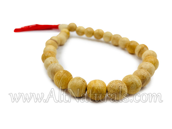 Japa Mala with Palo Santo Beads and Tagua Nut Guru Bead