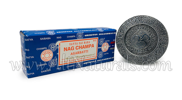 Nag Champa Bundle with Om Incense Burner