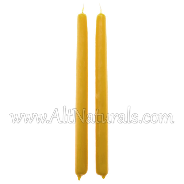 "100% Premium Beeswax 10"" Candle Tapers (Pack of 2)"