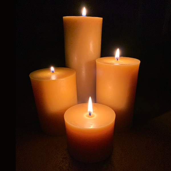 100% Premium Beeswax Pillar Candles