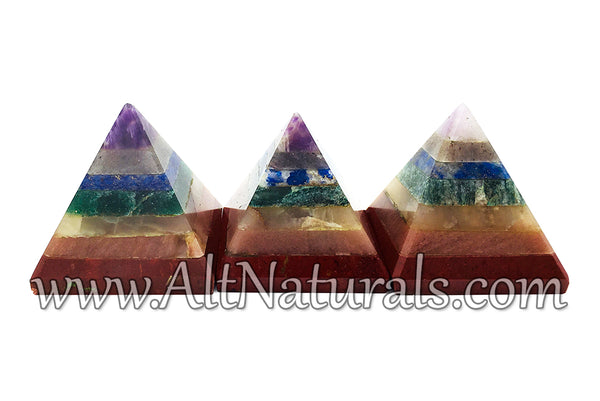 The 7 Chakras Stone Pyramid