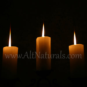 3 Pack Emergency Candles made from Pure Beeswax. Slow burn time for hurricanes, power outages, and more.