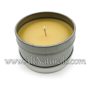 Hand-Poured Beeswax Candles in a Tin