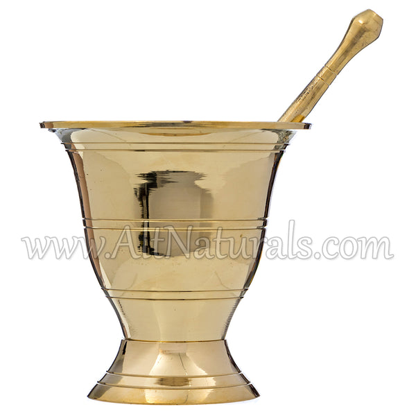 Brass Mortar and Pestles Set