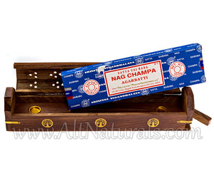 Nag Champa Bundle with Tree of Life Coffin Incense Burner
