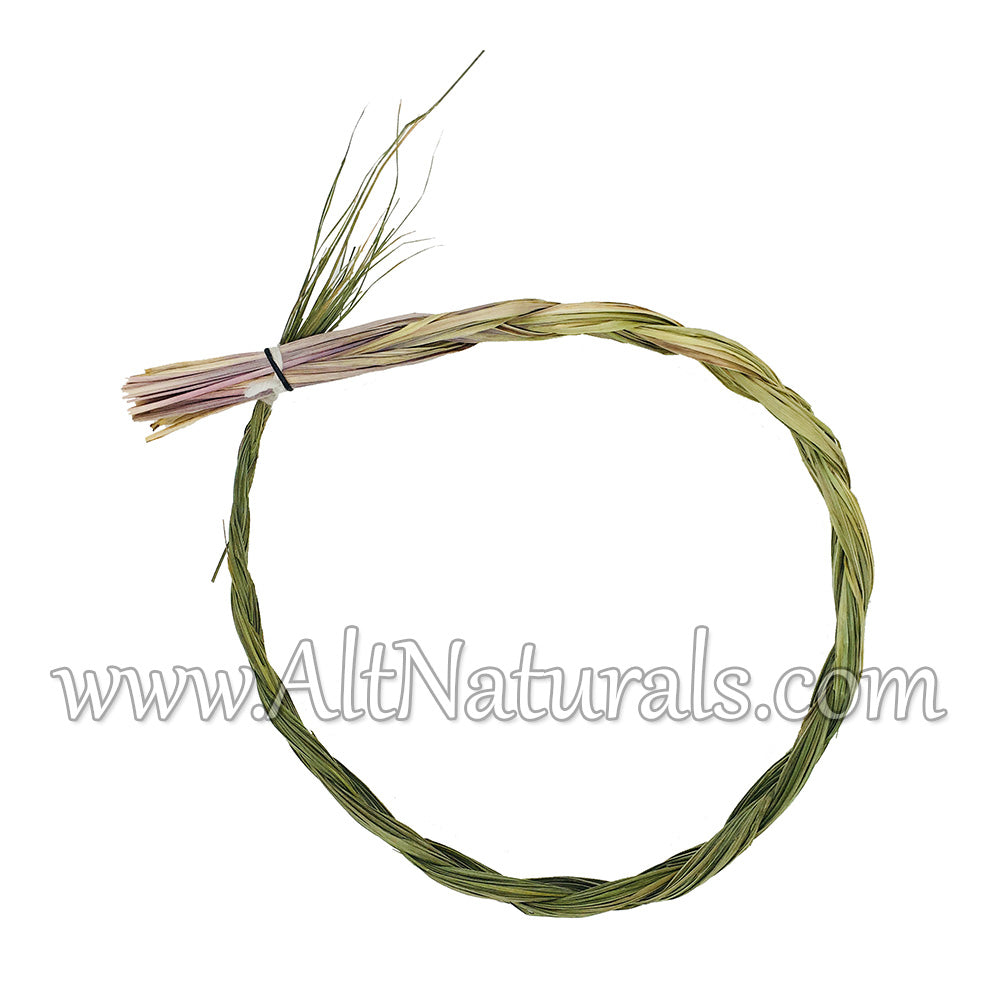 "Sweetgrass Incense Braid, Extra Large Size, 24"" Long"
