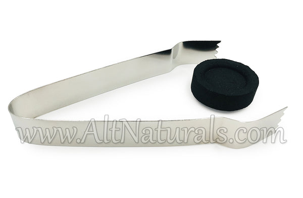 Chrome Tongs for Charcoal Pucks