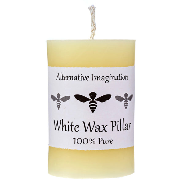100% Pure Ivory Wax Beeswax Candle