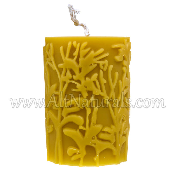 Wild Meadow Beeswax Pillar Candle