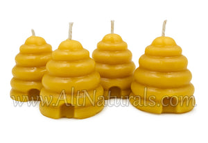 Beehive Votive Candles made with 100% Pure, Natural Beeswax