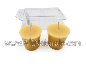 Hand Poured Beeswax Votives (Pack of 2)