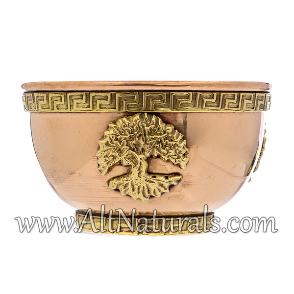 Tree of Life Copper Offering Bowl