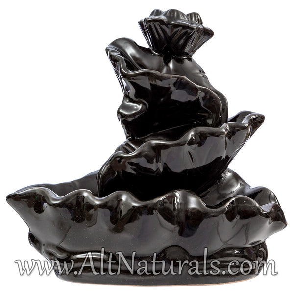 Waterfall Ceramic Backflow Incense Burner with 100 Backflow Incense Cones
