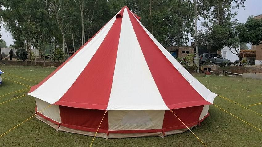 Red Bell tent 5 Meter 5M Ultimate ZIG Zipped-in Ground sheet & Red Bell tent 5 Meter 5M Ultimate ZIG Zipped-in Ground sheet | Shumaxx