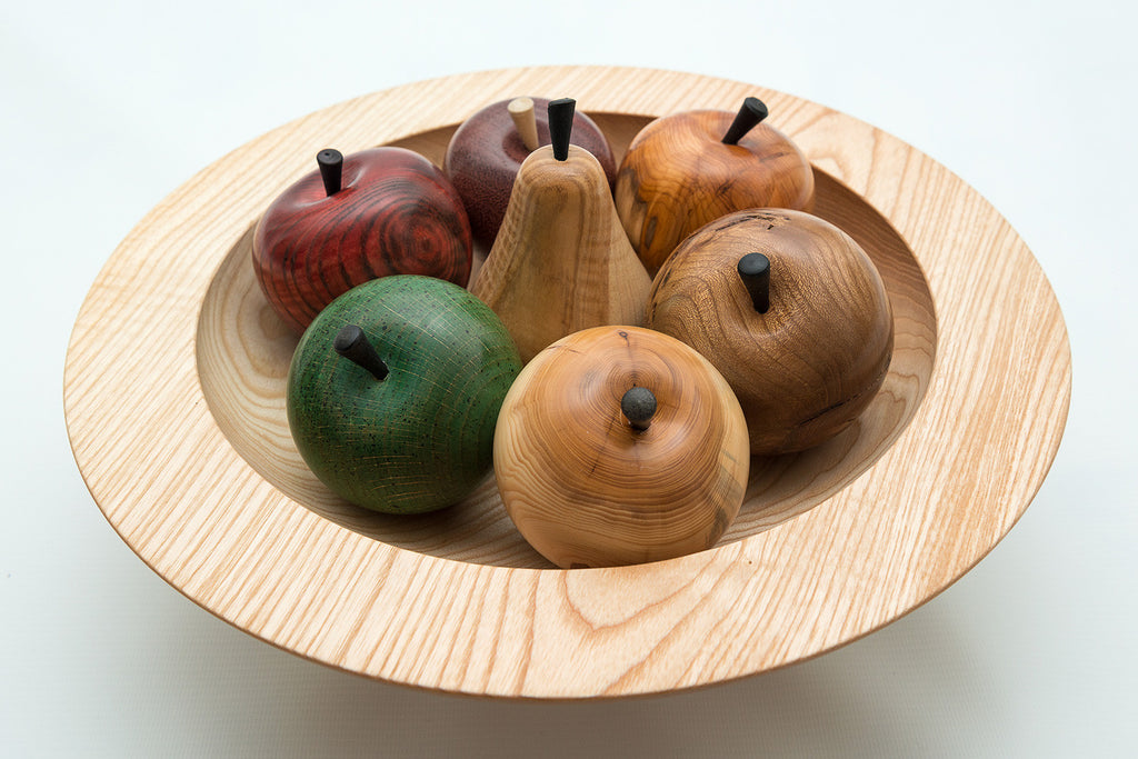 Hand turned wooden fruit bowl and paul khosla