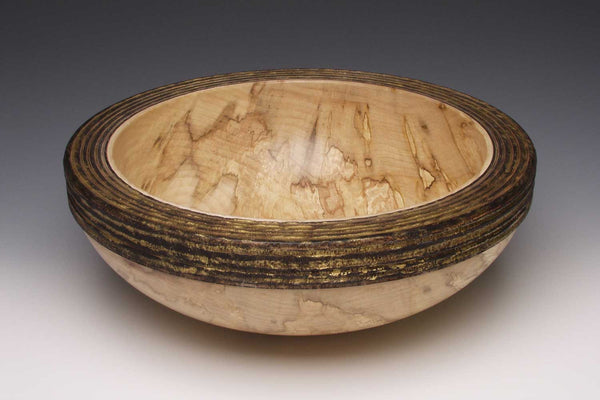 Decorative wooden bowl by Paul Khosla