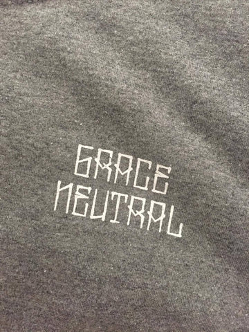 GRACE NEUTRAL CROP CIRCLE GREY SMALL TEE