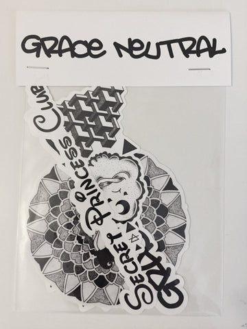 GRACE NEUTRAL MIXED STICKER Pack of 5