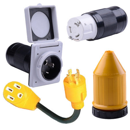 RV Power Cord Adapters / Fittings / Inlets