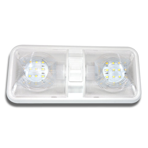 Double Dome Light Fixture comes with two T10 Wedge panels 2 x 275 Lumens LED  sc 1 st  Leisure RV Parts & RV Led Light Fixtures   Motorhome u0026 Trailer Led Lights   Buy RV ...