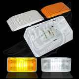 LED RV Porch Light Rectangle clear & amber lens no switch
