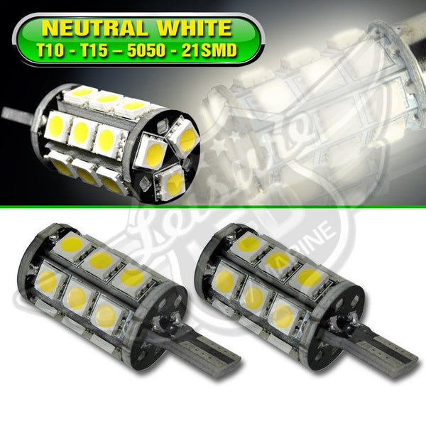 T10 T15 Natural White Interior LED Light Bulbs 921 194 912