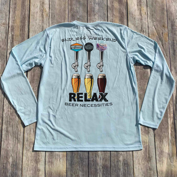 BEER NECESSITIES LONG SLEEVE CREW NECK SUNSHIRT