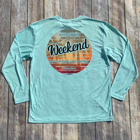 ENDLESS WEEKEND SUNSET PALM TREES SUNSHIRT