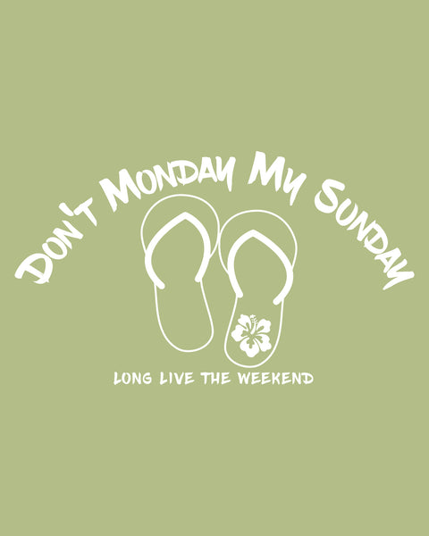 "Long Live the Weekend Flip Flops - 6"" Decal"