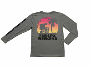 Mens Beach Vibes Long Sleeve Sun-Shirt