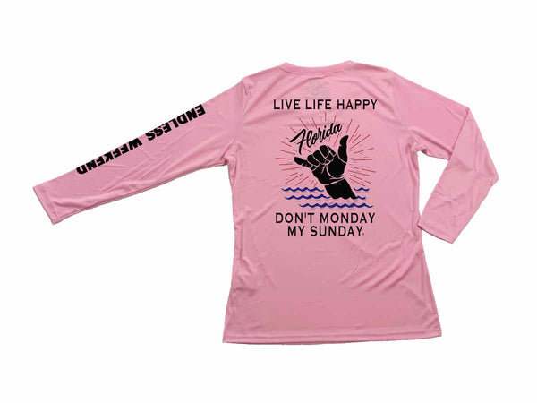 Women's Shakabrah Florida! Live Life Happy Sun-Shirt UPF25