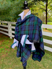 Cotton Cape Plaid (Cape-Black Navy Plaid)