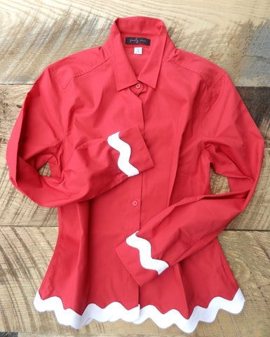 Ric Rac Red Shirt with White (RRRed-White)