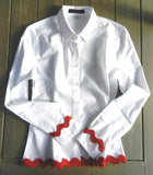 Rif Raf White Shirt with Red Ric Rac