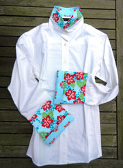 XS ONLY - Bell Sleeve Shirt with Hawaiian Floral