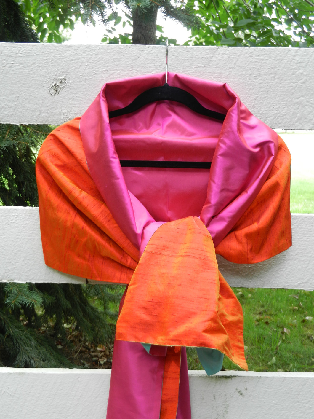 Silk Wrap in Orange and Hot Pink (LW09)