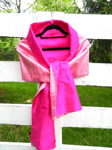 Silk Wrap in Dual Tone Pink (LW34)