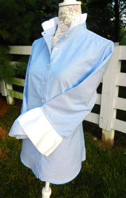 Oxford Blue Shirt with White Ribbon (ORBLU-White)