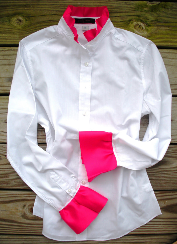 XS, M ONLY Ribbon Trim Shirt with Pink