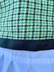 Green Houndstooth Poncho
