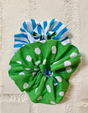 Dual Fabric Scrunchie