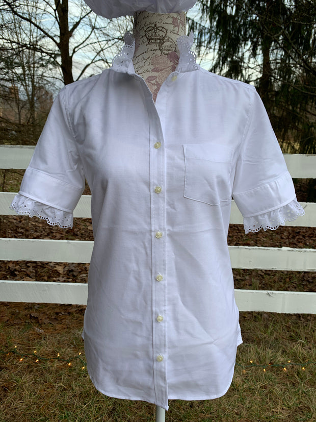 Short Sleeve Eyelet Oxford
