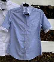 Short Sleeve Oxford Blue