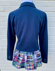 Navy Knit with Madras Giddy Up Jacket